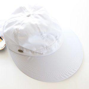 Kallina Wide Visor Sun Hat with Bow Tie UPF 50+